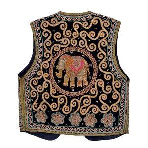 Carol Horn 1960 Sequined Embroidered Elephant Vest